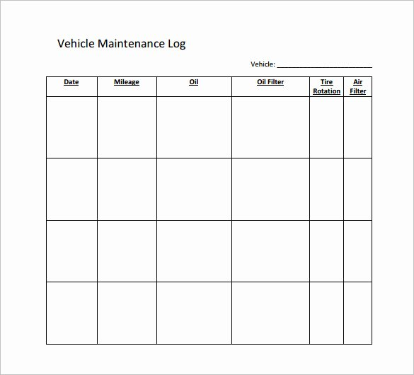 Car Maintenance Schedule Template Inspirational Maintenance Schedule Template 37 Free Word Excel Pdf