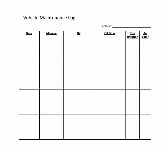 Car Maintenance Schedule Template Inspirational Maintenance Schedule Template 37 Free Word Excel Pdf