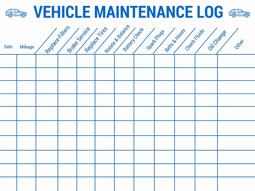 Car Maintenance Schedule Template Lovely Vehicle Preventive Maintenance Schedule Template