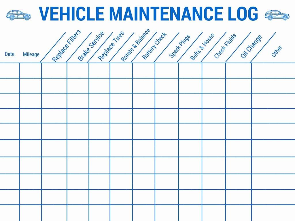 Car Maintenance Schedule Template Lovely Vehicle Preventive Maintenance Schedule Template