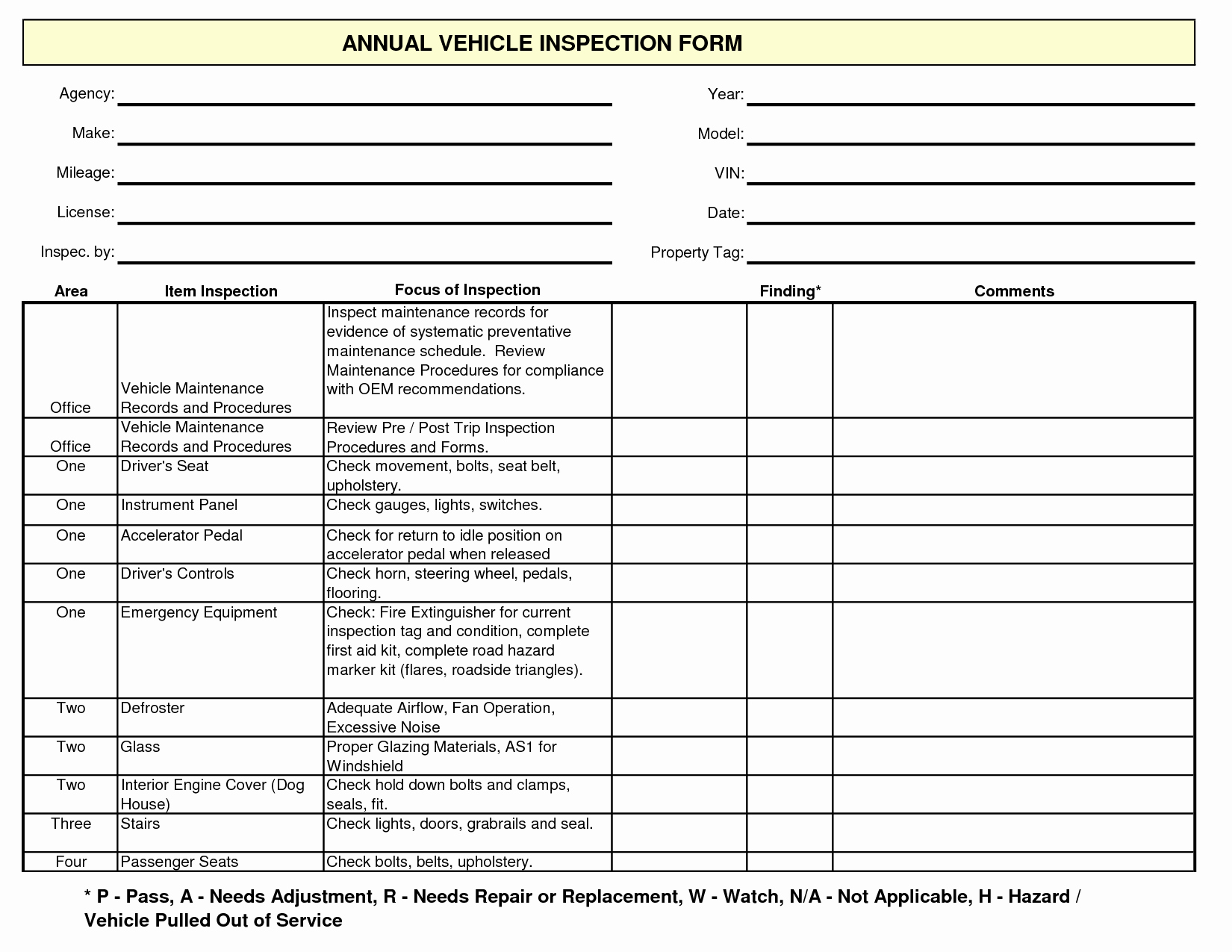 Car Maintenance Schedule Template Luxury Free Vehicle Maintenance form Template