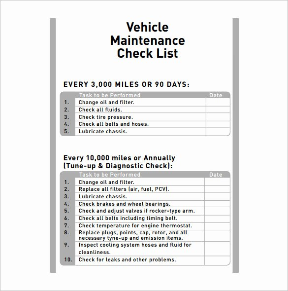 Car Maintenance Schedule Template New Vehicle Maintenance Schedule Template 13 Free Word