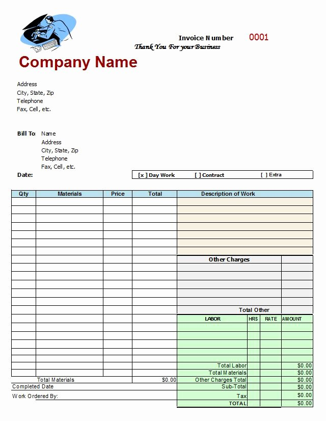 Car Repair Invoice Template Best Of Mechanic Shop Invoices Google Search