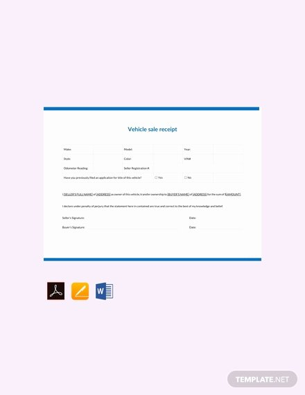 Car Sale Receipt Template Elegant Free Vehicle Sale Receipt Template Pdf Word