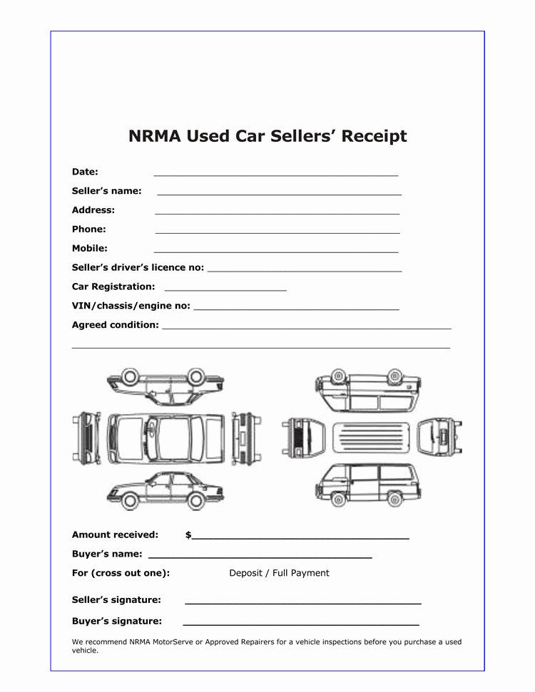 Car Sale Receipt Template Luxury 12 Free Sales Receipt Templates Word Excel Pdf