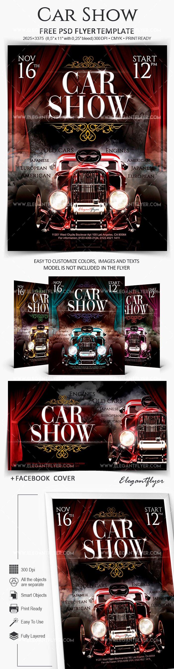 Car Show Flyer Template Best Of Car Show – Free Flyer Psd Template – by Elegantflyer