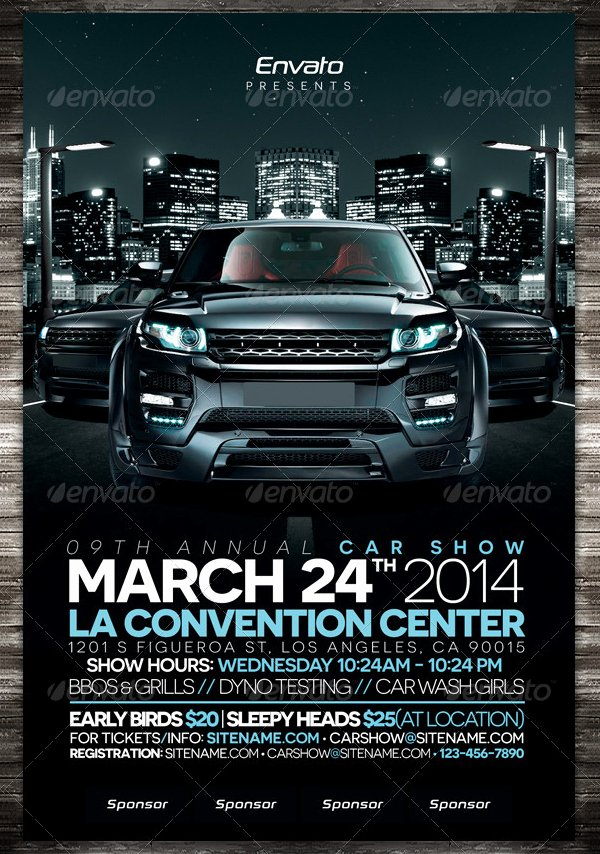 Car Show Flyer Template Elegant 19 Car Show Flyer Free & Premium Psd Ai Vector Eps
