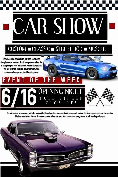 Car Show Flyer Template Elegant Car Show Template