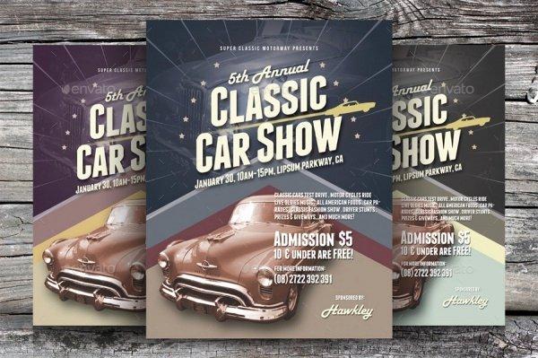 Car Show Flyer Template Fresh 26 Modern Car Show Flyer Designs & Creatives Ai Docs Psd