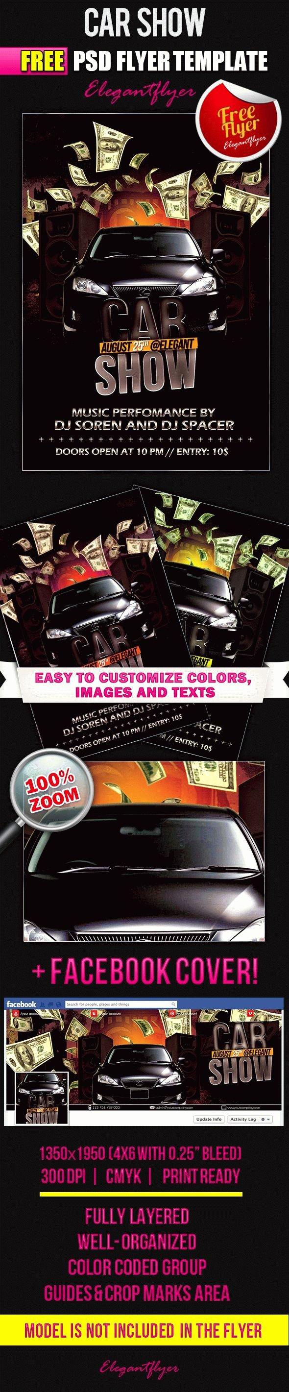 Car Show Flyer Template Fresh Car Show – Free Flyer Psd Template – by Elegantflyer
