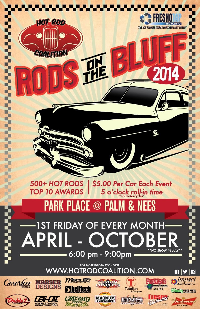 Car Show Flyer Template Fresh Hot Rod Coalition Rods On the Bluff Fresno Ca