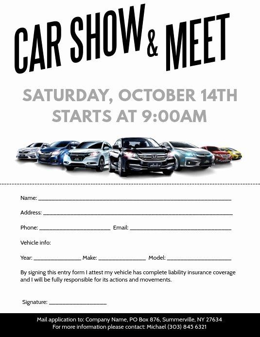 Car Show Flyer Template Inspirational Car Show & Meet Flyer Template