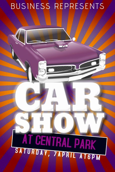 Car Show Flyer Template Inspirational Car Show Flyer Template Old Retro Vintage