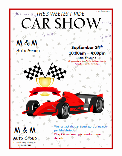 Car Show Flyer Template Lovely Car Show Flyer Template Microsoft Word Templates