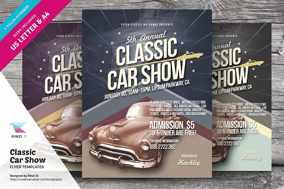Car Show Flyer Template Lovely Classic Car Show Flyers Flyer Templates On Creative Market