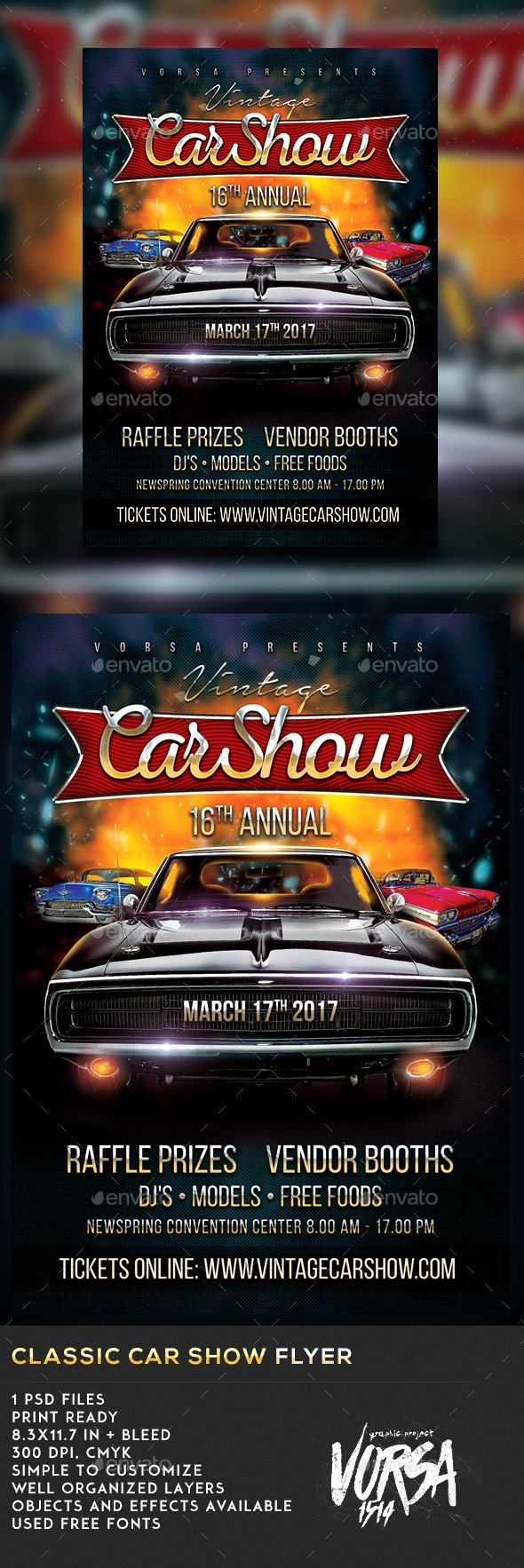 Car Show Flyer Template Luxury Classic Car Show Flyer by Vorsa