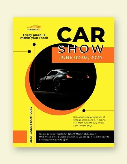 Car Show Flyer Template New 26 Modern Car Show Flyer Designs & Creatives Ai Docs Psd