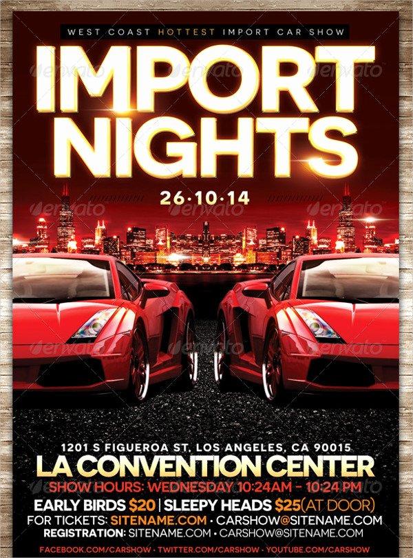 Car Show Flyer Template Unique 25 Car Show Flyer Templates Free & Premium Download