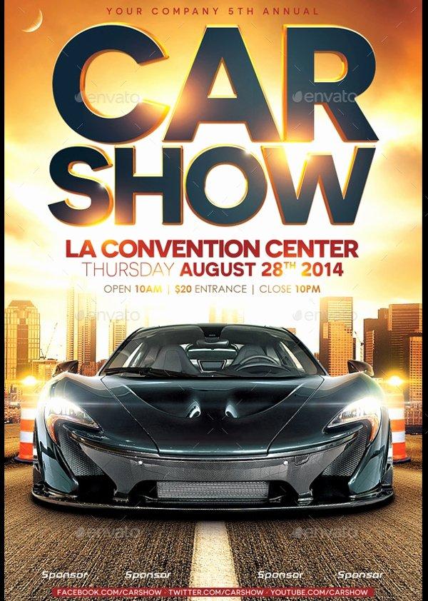 Car Show Flyer Template Unique 26 Modern Car Show Flyer Designs & Creatives Ai Docs Psd