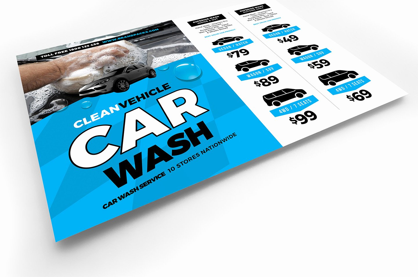 Car Wash Flyer Template Awesome Car Wash Flyer Template In Psd Ai & Vector Brandpacks