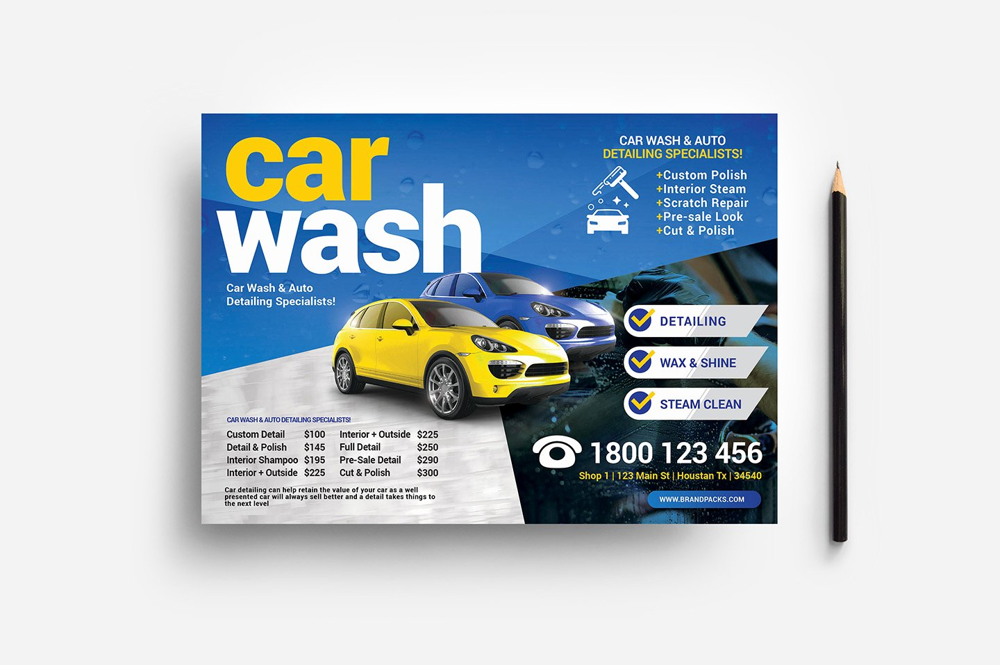 Car Wash Flyer Template Beautiful Car Wash Flyer Template V2 Psd Ai & Vector Brandpacks