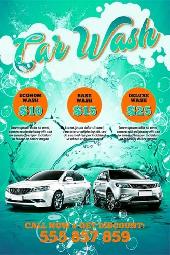 Car Wash Flyer Template Beautiful Car Wash Free Poster Template Best Of Flyers