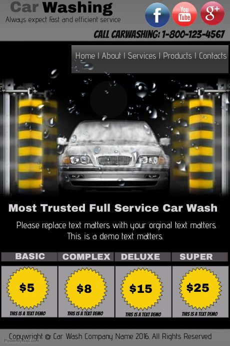 Car Wash Flyer Template Best Of Car Wash Template