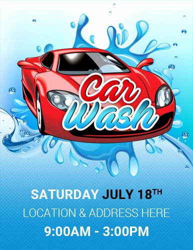 Car Wash Flyer Template Elegant Ms Word Car Show Flyer Template