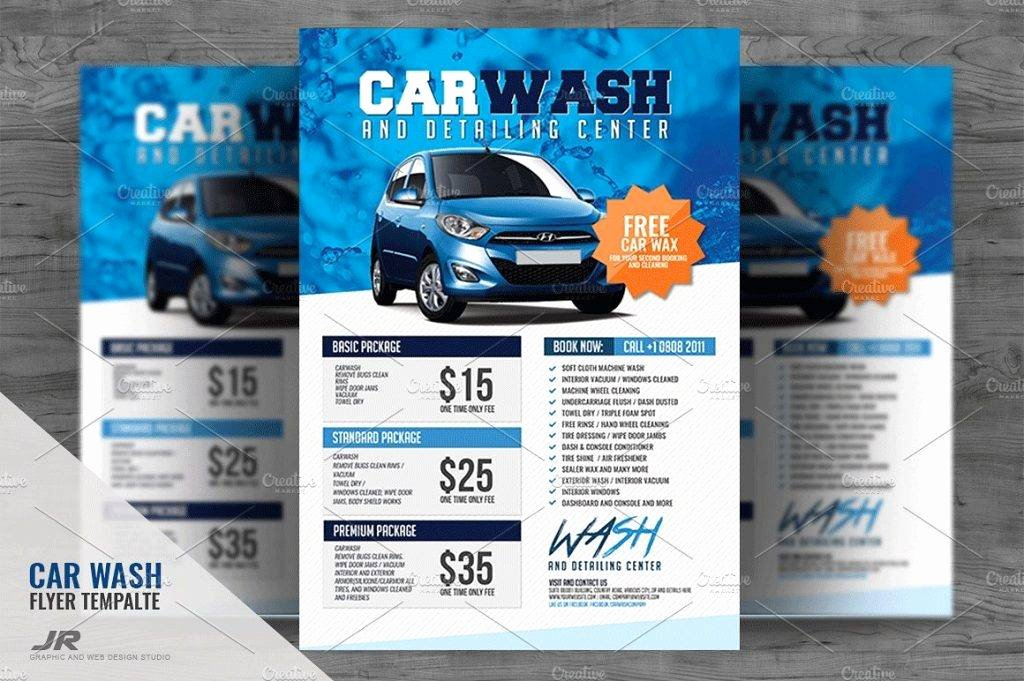 Car Wash Flyer Template Fresh 18 Car Wash Flyer Designs & Examples – Psd Ai Word