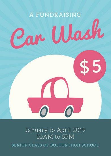 Car Wash Flyer Template Fresh Blue Pink Script Text Car Wash Flyer Templates by Canva