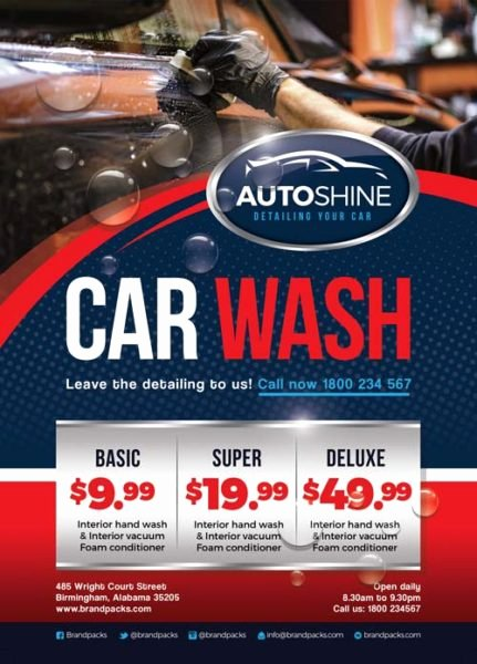 Car Wash Flyer Template Fresh Free Car Wash Business Flyer Template Download for Shop