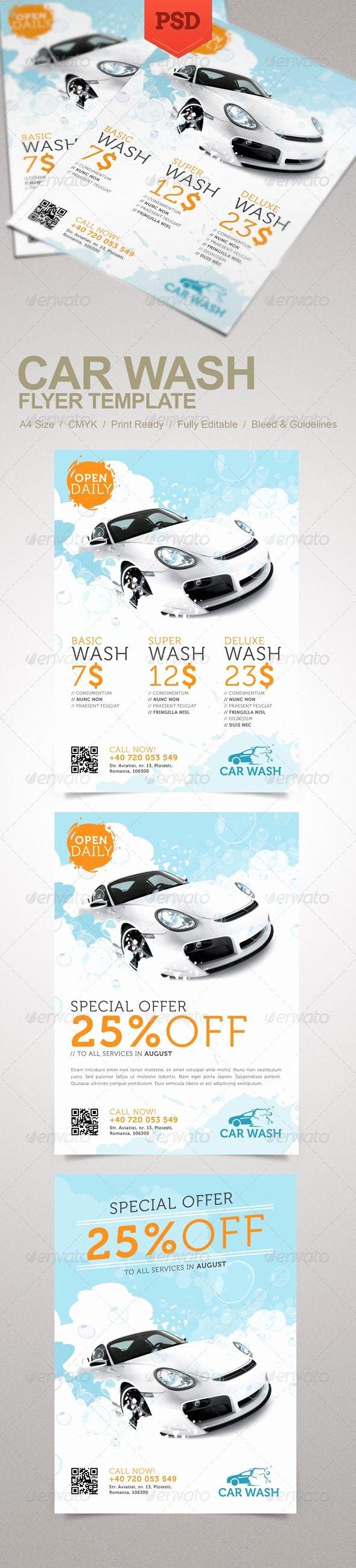 Car Wash Flyer Template Inspirational Car Wash Flyer