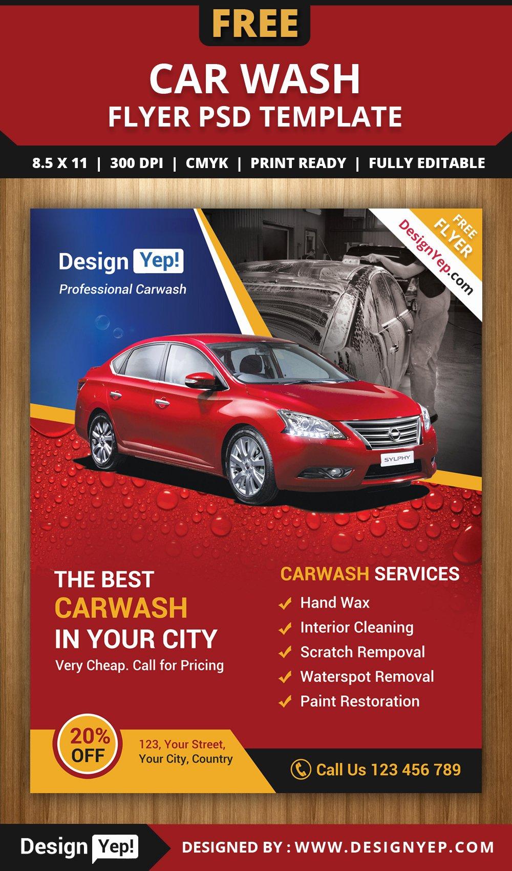 Car Wash Flyer Template Inspirational Free Car Wash Flyer Psd Template Designyep