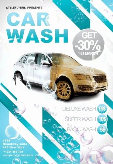 Car Wash Flyer Template Lovely Car Wash Psd Flyer Template 6214 Styleflyers