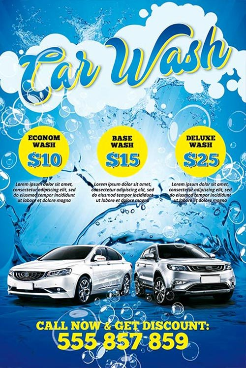 Car Wash Flyer Template Lovely Download the Car Wash Free Psd Poster Template