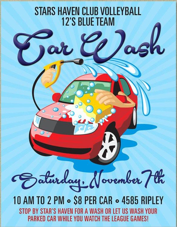 Car Wash Flyer Template Luxury 26 Car Wash Flyers Psd Word Psd Ai Eps Vector