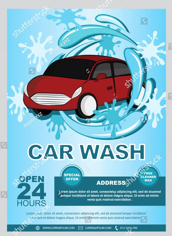 Car Wash Flyer Template New 46 Car Wash Flyer Templates Free & Premium Psd Vector