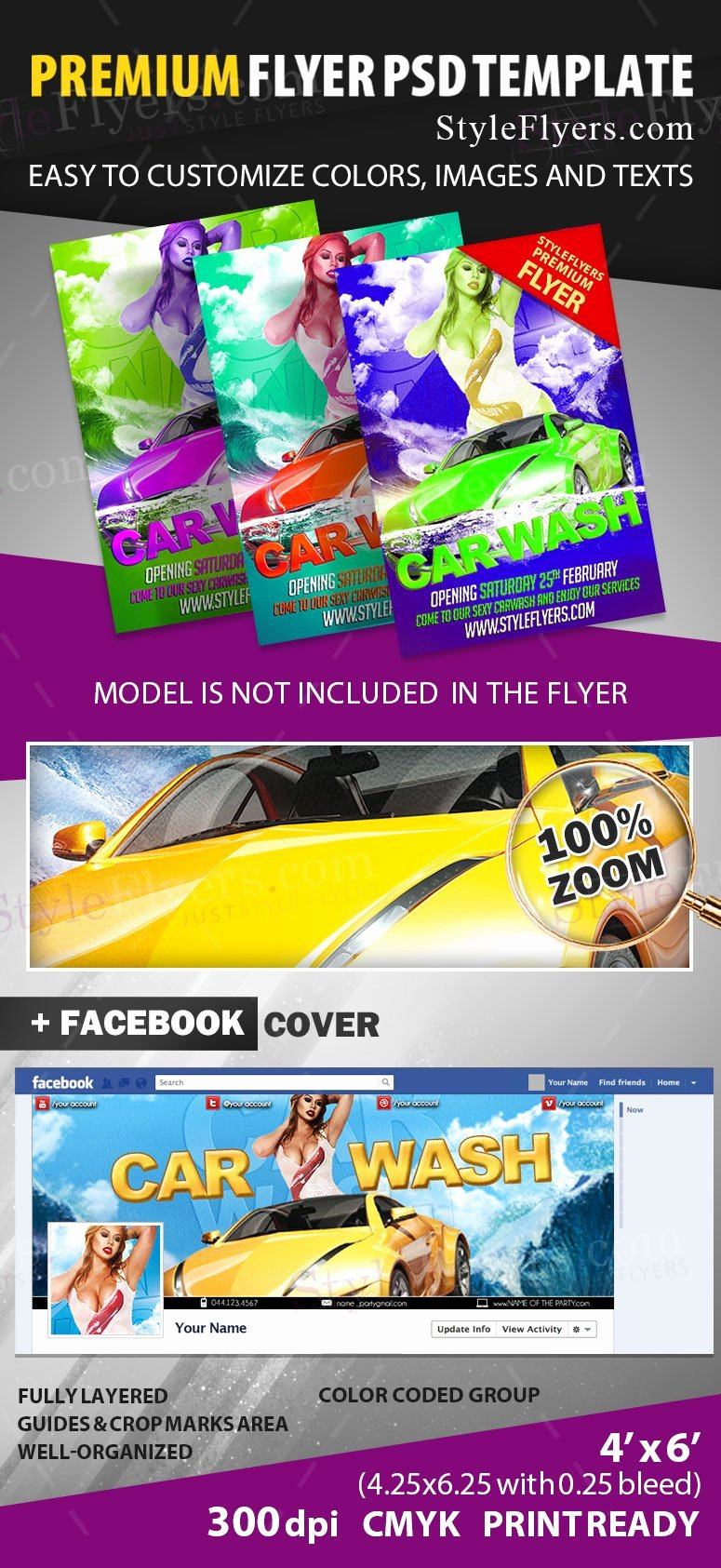 Car Wash Flyer Template New Car Wash Psd Flyer Template Styleflyers