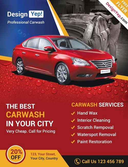 Car Wash Flyer Template New Download Car Wash Business Free Psd Flyer Template