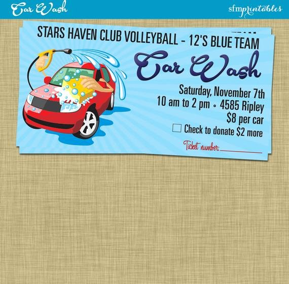 Car Wash Fundraiser Flyer Template Awesome Car Wash Flyer Fundraiser Church School Munity Sports