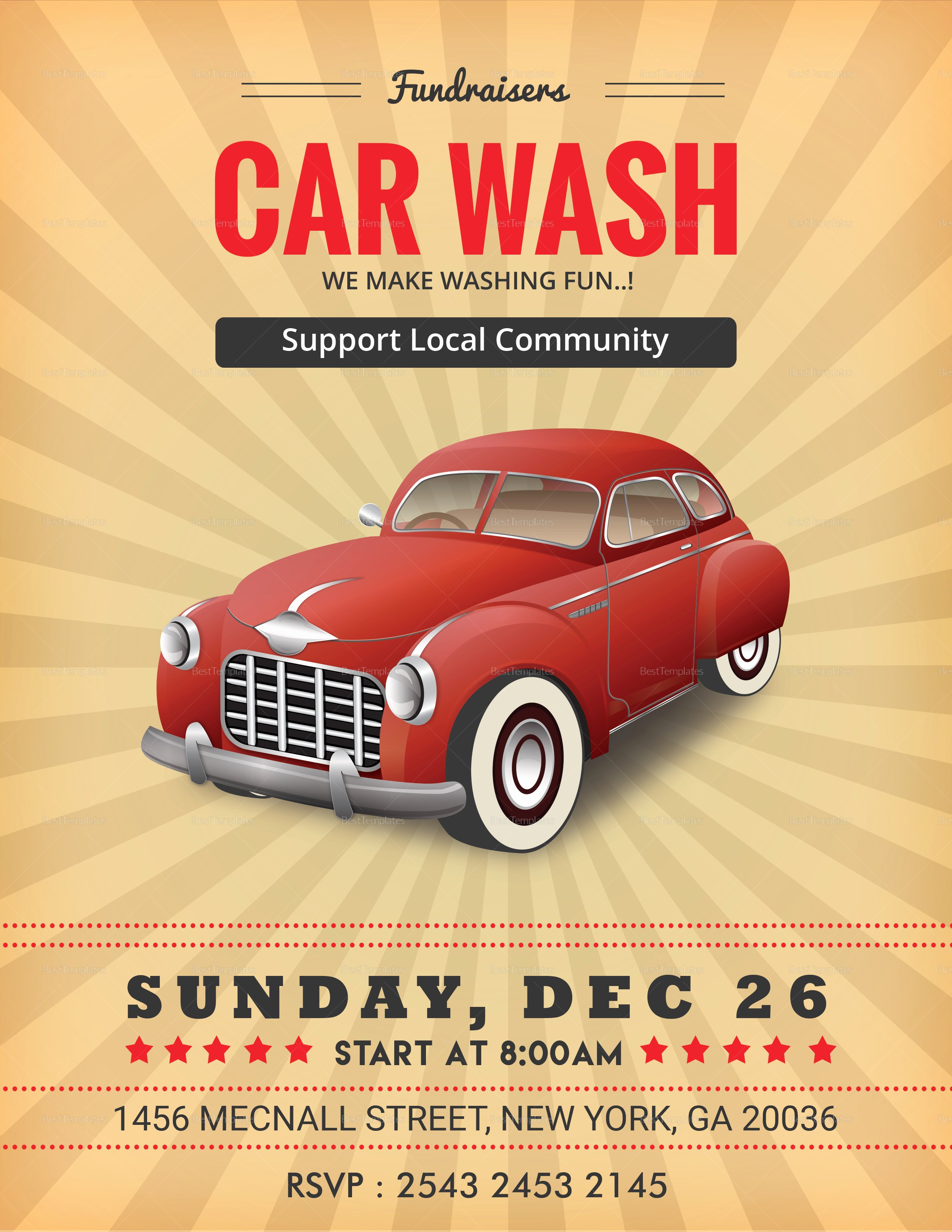 Car Wash Fundraiser Flyer Template Awesome Fundraiser Car Wash Flyer Design Template In Word Psd