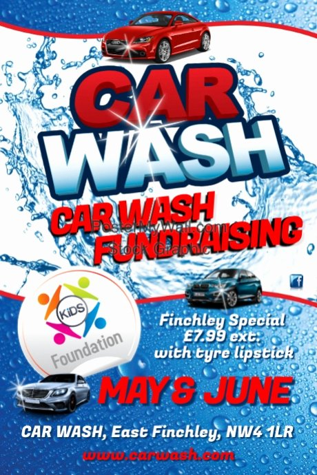 Car Wash Fundraiser Flyer Template Beautiful Car Wash Flyer Template
