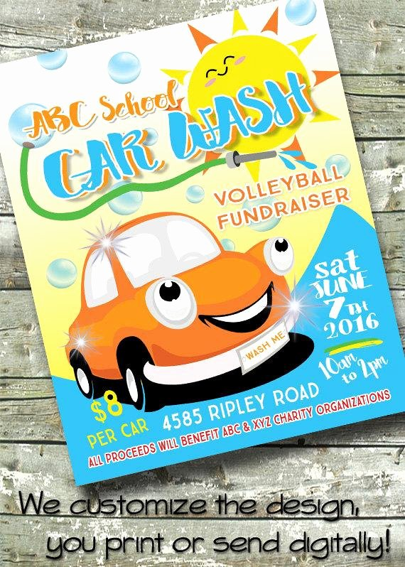 Car Wash Fundraiser Flyer Template Beautiful Car Wash Summer Fundraiser 5x7 Invite 8 5x11 Flyer