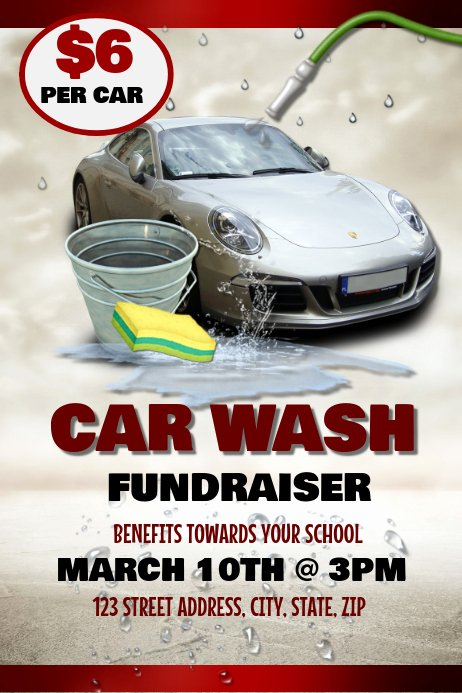 Car Wash Fundraiser Flyer Template Beautiful Car Wash Template