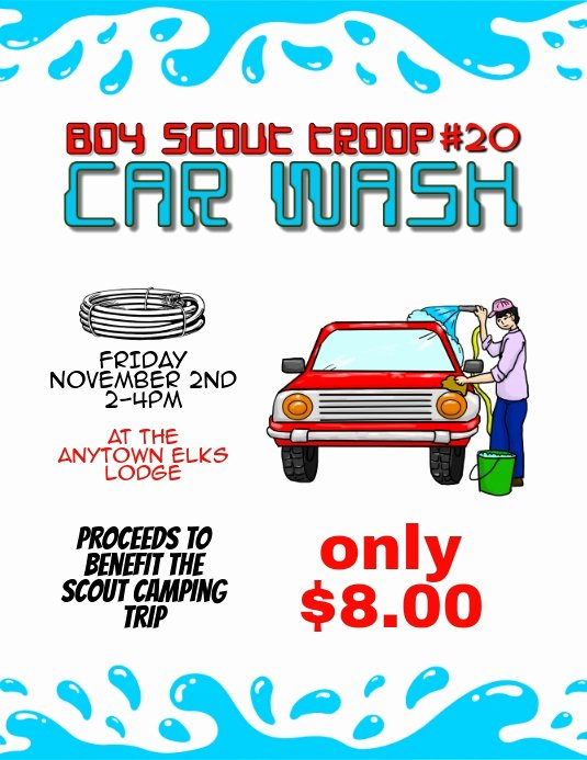 Car Wash Fundraiser Flyer Template Best Of Car Wash Fundraiser Flyer Template