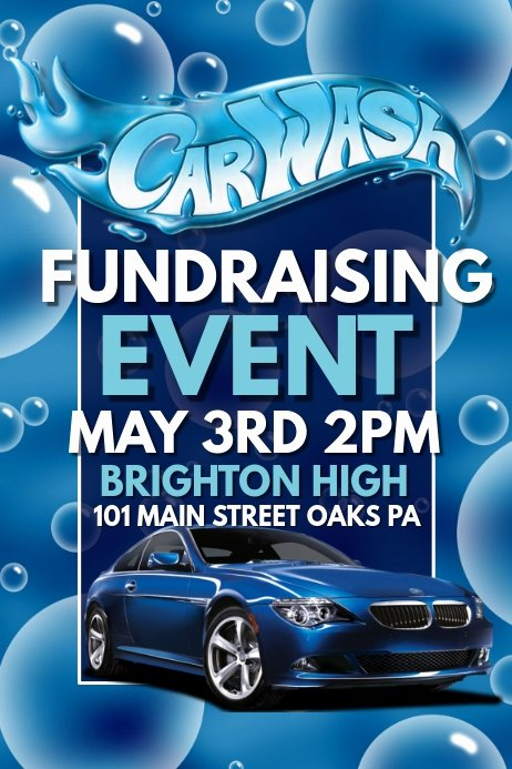 Car Wash Fundraiser Flyer Template Best Of Copy Of Car Wash