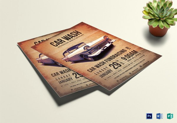 Car Wash Fundraiser Flyer Template Elegant 48 Fundraiser Flyer Templates Psd Eps Ai Word