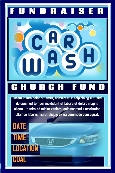Car Wash Fundraiser Flyer Template Fresh Postermywall