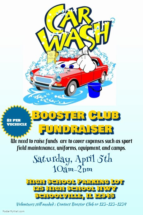 Car Wash Fundraiser Flyer Template Inspirational Car Wash Fundraiser Template