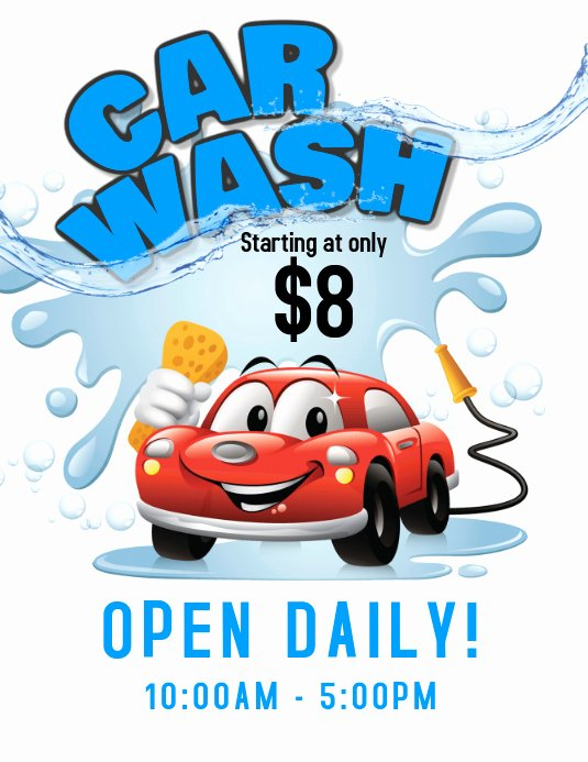 Car Wash Fundraiser Flyer Template Inspirational Car Wash Service Flyer Template